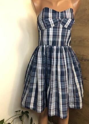 Платье корсетное/ пышное/ клетчатое без брителек jack wills