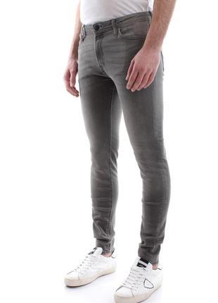 Качественные зауженные джинсы jack&jones liam original skinny fit jeans