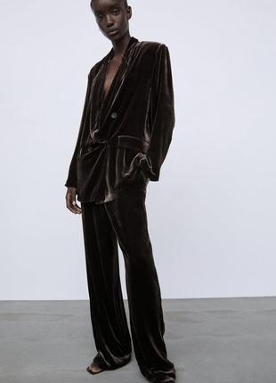 Бархатный костюм zara limited edition (xs)
