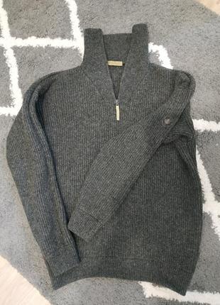 Шерстяной мужской канадский свитер, 100% овечья шерсть, очень плотной вязки.