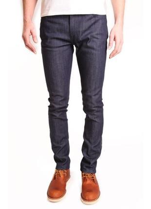 Превосходные оригинальные джинсы nudie tape ted org.dry grey embo
