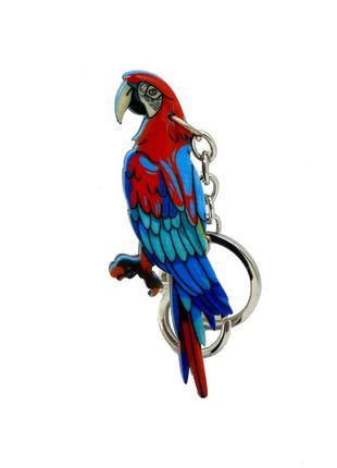 "🌸🐦 брелок для ключей птица ""попугай"" декупаж"