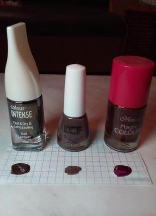 Набор из 3 -х лаков для ногтей