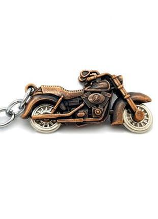 "🏍🤘 брелок для ключей харлей дэвидсон harley-davidson ""мини-мотоцикл"" бронза"