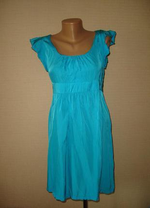 Яркое платье topshop , р 12 , 100% вискоза
