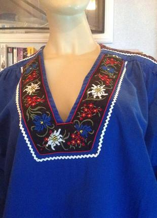 Натуральная блуза - вышиванка р. 58-60