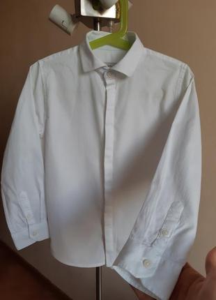 Белая рубашка zara 6- 7 лет