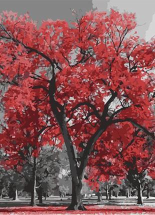Картина по номерам 40*50 (пейзаж, дерево, клён)