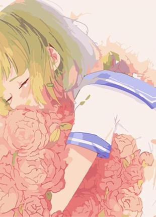 Картина по номерам 40*50 (цветы, девушка, аниме)