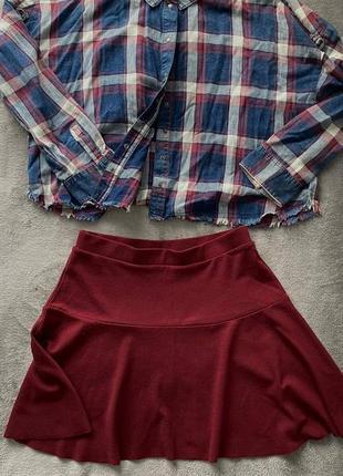 Бордовая юбка colins