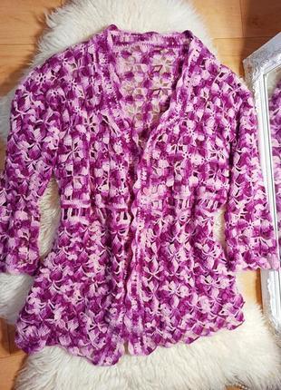 Кардиган накидка кофта блуза батал красивая