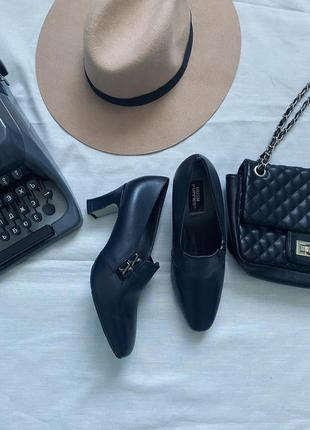 Кожаные винтажный туфли 4027)