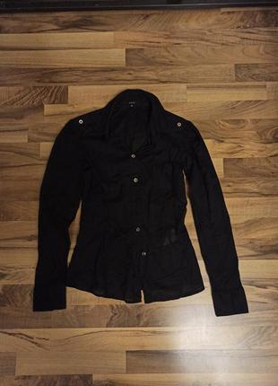 Базовая черная рубашка gucci