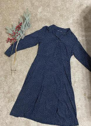 Платье миди , сукня мілі в горошок