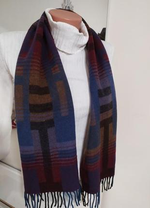Кашемировые шарф в клетку винтаж