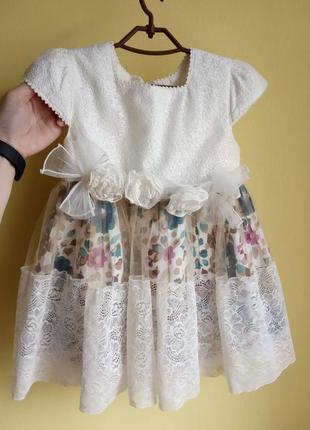 Детское нарядное платье для девочки 2-3лет, 94