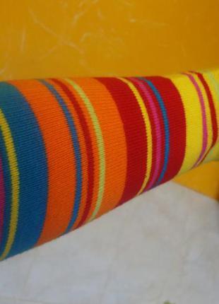 Перчатки длинные на руку желто-розовые