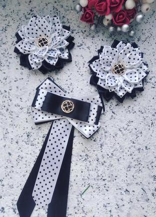 Школьный комплект бантики галстук школа форма
