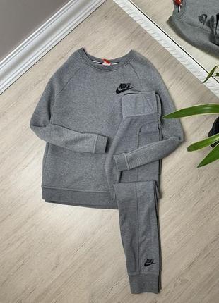 Женский спортивный костюм найк nike оригинал серый