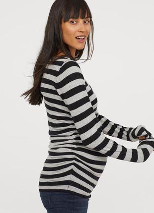 Джемпер свитер для беременных хлопок для вагітних бавовна от h&m
