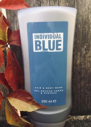 Avon individual blue шампунь гель