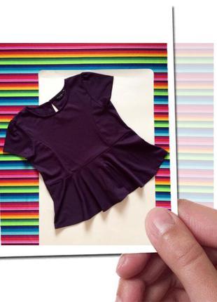 Трикотажная блузочка с баской  18-20р наш 52р или ххл состояние новой 100грн.