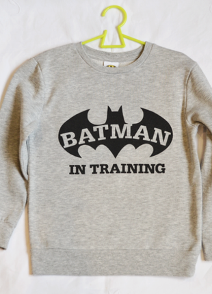 Серый свитшот реглан batman  ( george ) на мальчика 5-6 лет