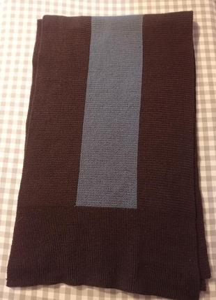 Двухцветный вязаный мужской шарф nina ricci