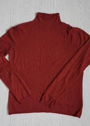 Шерстяной свитер гольф большой размер