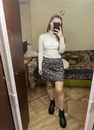 Стильная юбка трапеция принт леопард от miss selfridge