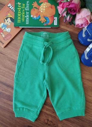 Классные теплые штанишки, брюки h&m на 2-4 месяца.