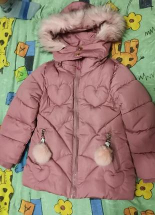 Зимняя куртка на девочку 92-104
