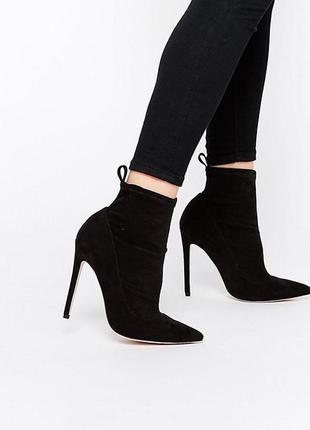 Ботинки asos чулки с острым носочком и шпилькой