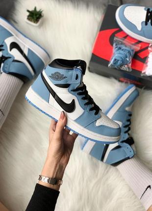 Кросівки nike air jordan 1 retro high 'university blue' кроссовки