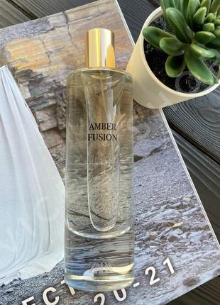 Zara amber fusion 80 мл духи парфюмерия туалетная вода оригинал испания купить