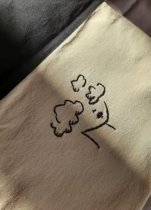 Экосумка шоппер с вышивкой