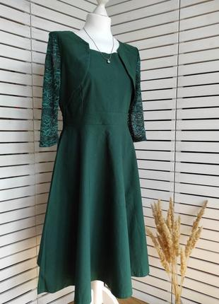 Платье изумрудного цвета musto