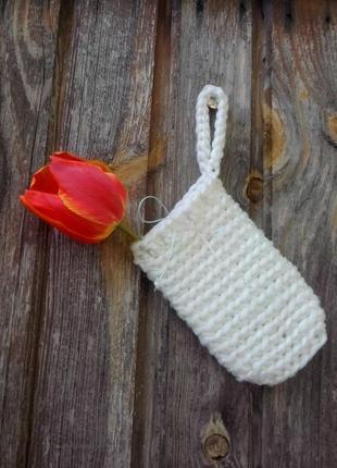 Мочалка-мешочек (саше) ручной вязки