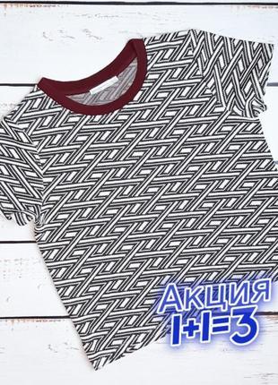 1+1=3 шикарная женская футболка zara в геометрический принт, размер 46 - 48