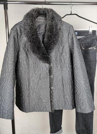 Красивая брендовая стильная куртка alex & co синтепон этикетка