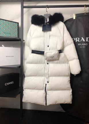 Ультрамодная куртка prada пояс с сумочкой в комплекте!