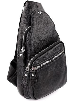 Многофункциональный мужской кожаный рюкзак кросс боди,барсетка сумка через плечо,чоловіча чорна сумка