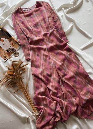 Шерстяное розовое платье mango