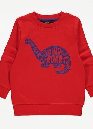 Яркий тёплый свитшот george с динозавром