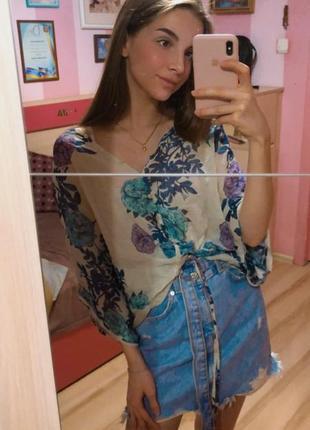 Шовкова літня блуза