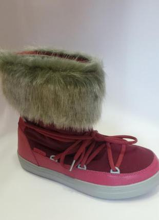 Crocs крокс зимние женские сапоги, дутики