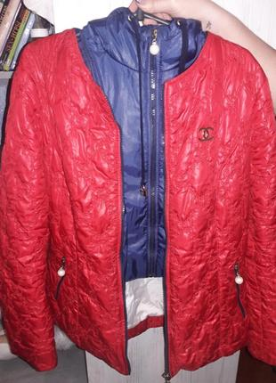 Куртка демисезонная курточка на синтепон капюшон