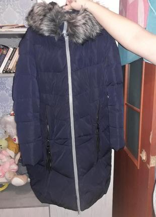 Пуховик  куртка зимняя зима с мехом