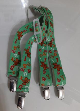 Подтяжки для мальчика р. 86-130 на резинке, длина регулируется германия