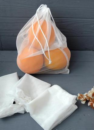 Экомешочки для покупок, фруктовки, эко пакеты, мішечки, торбинки zero weste